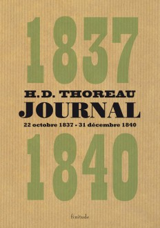 Henry David Thoreau - Journal 1837-1840
